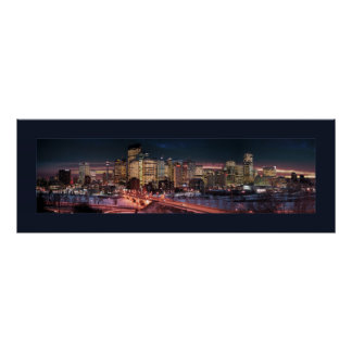Calgary - The Frozen River (Double Bordered) Poster