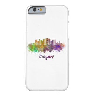 Calgary V2 skyline in watercolor Barely There iPhone 6 Case