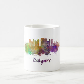 Calgary V2 skyline in watercolor Coffee Mug