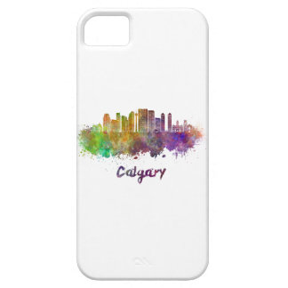 Calgary V2 skyline in watercolor iPhone 5 Covers
