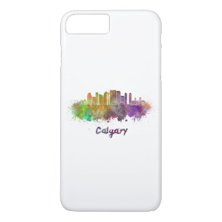 Calgary V2 skyline in watercolor iPhone 8 Plus/7 Plus Case