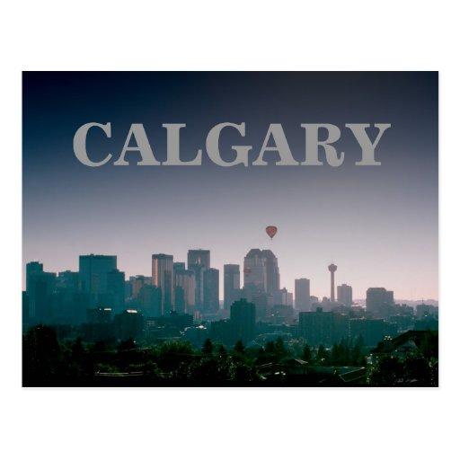 Calgary with Balloons Postcard