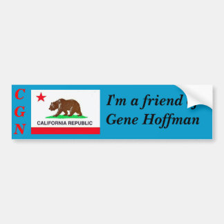Calguns.net Sticker - Friend of Gene Hoffman Bumper Sticker