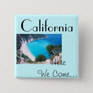 Cali Blue 2 Inch Square Button