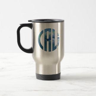 Cali Circle Wave Logo (Dark) Travel Mug