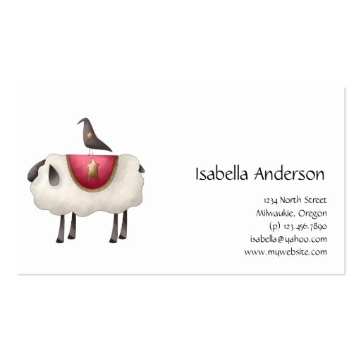 Cali Crows · Crow & Sheep Business Card Template