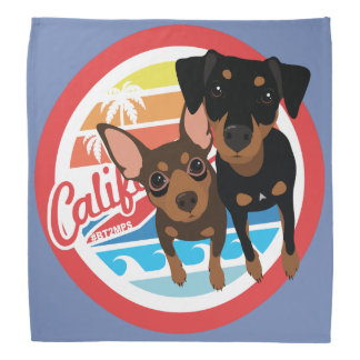 Cali Dog Min Pin Bandana