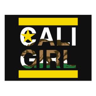 Cali Girl Rep Yellow Postcard