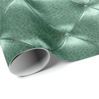 Cali Grass Green Luxury Opulent Tufted Leather VIP Wrapping Paper