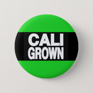 Cali Grown 2 Green 2 Inch Round Button