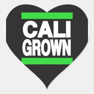 Cali Grown Green Heart Sticker