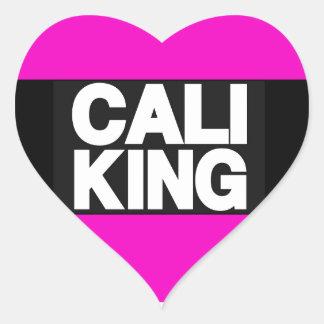 Cali King 2 Pink Heart Sticker