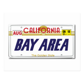 Cali License Plates Postcard
