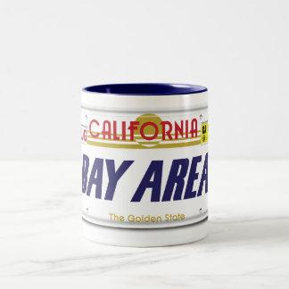 Cali License Plates Two-Tone Coffee Mug
