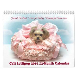 Cali Lollipop 2016 12-Month Calendar