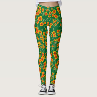 Cali Poppies Leggings