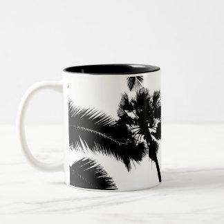 cali simplicity (black) Two-Tone coffee mug