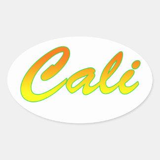 Cali USA - Santiago de Cali - Bright Colors Oval Sticker