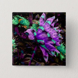 Calico Bird of Paradise, magnet 2 Inch Square Button