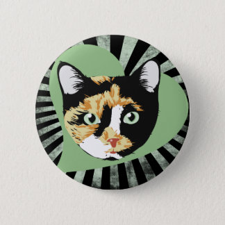 Calico Cat 2 Inch Round Button