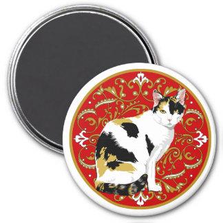 Calico Cat Baroque Magnet