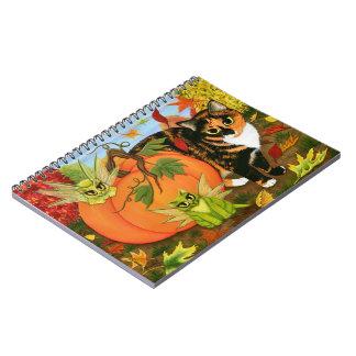 Calico Cat Fairy Cats Fall Autumn Notebook