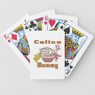 Calico Cat Mom Bicycle Playing Cards