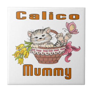 Calico Cat Mom Tile