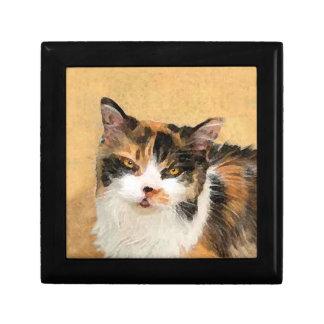 Calico Cat Painting - Cute Original Cat Art Gift Box