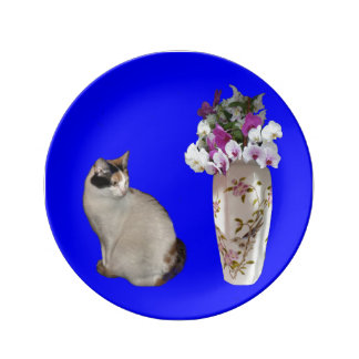 Calico Cat Plate