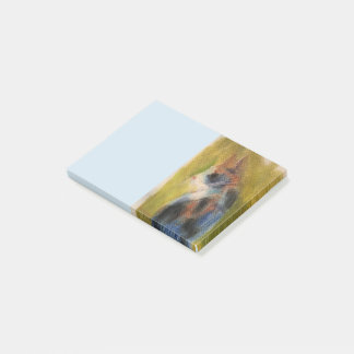 Calico Cat Post-it Notes Art in Soft Pastels