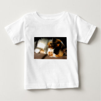Calico Cat Sunning Baby T-Shirt