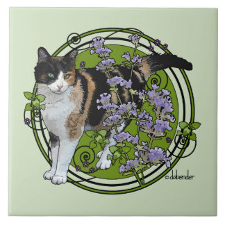 Calico Cat with Nepeta Tile