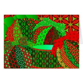 Calico christmas ornaments card