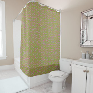 Calico Floral Shower Curtain