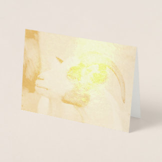 Calico goat foil card