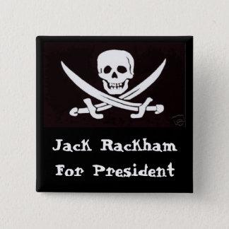 Calico Jack for Prez! 2 Inch Square Button
