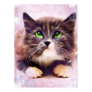Calico Kitten Postcard