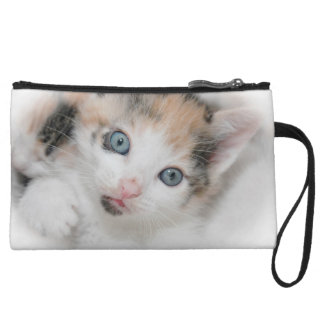 CALICO KITTEN SMALL CLUTCH WRISTLET PURSE
