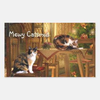 Calico kitties Christmas Sticker
