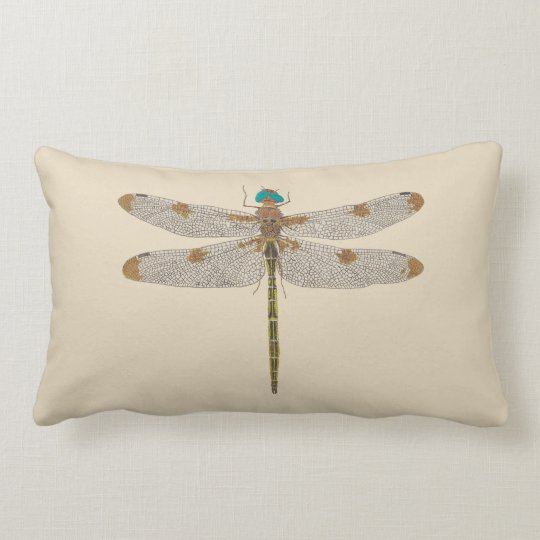 Calico Pennant Dragonfly Pillow
