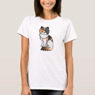 Calico Persian Cat T-Shirt