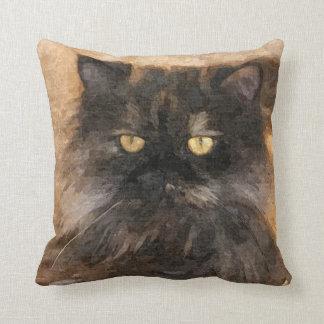 Calico Persian Cat Throw Pillow
