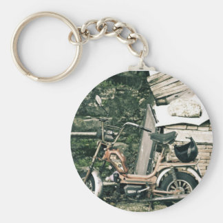 Califfo scooter in Italy Basic Round Button Keychain