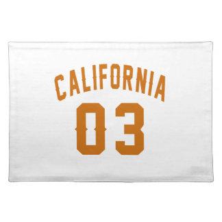 California 03 Birthday Designs Placemat