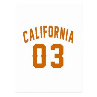 California 03 Birthday Designs Postcard