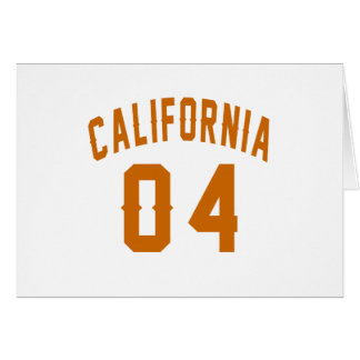 California 04 Birthday Designs Card