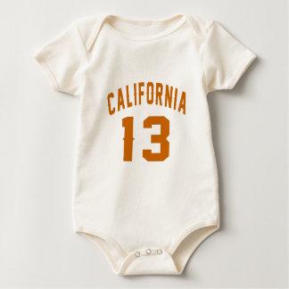 California 13 Birthday Designs Baby Bodysuit
