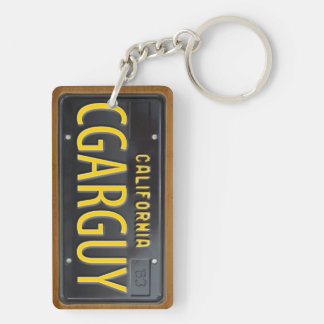 California 1963 License Plate Keychain CUSTOM
