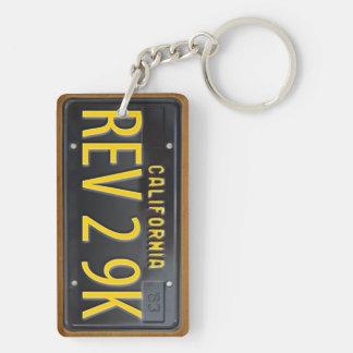 California 1963 Vintage License Plate Keychain REV